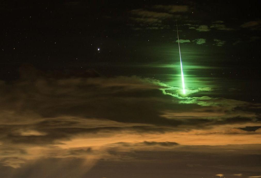 zeleny meteor