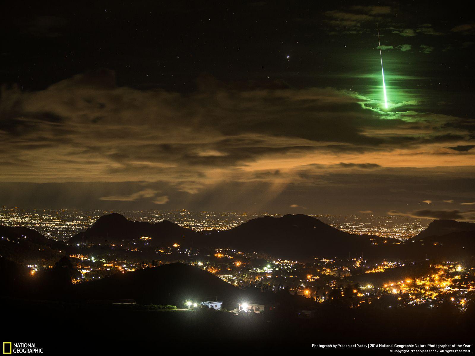 zelený meteor
