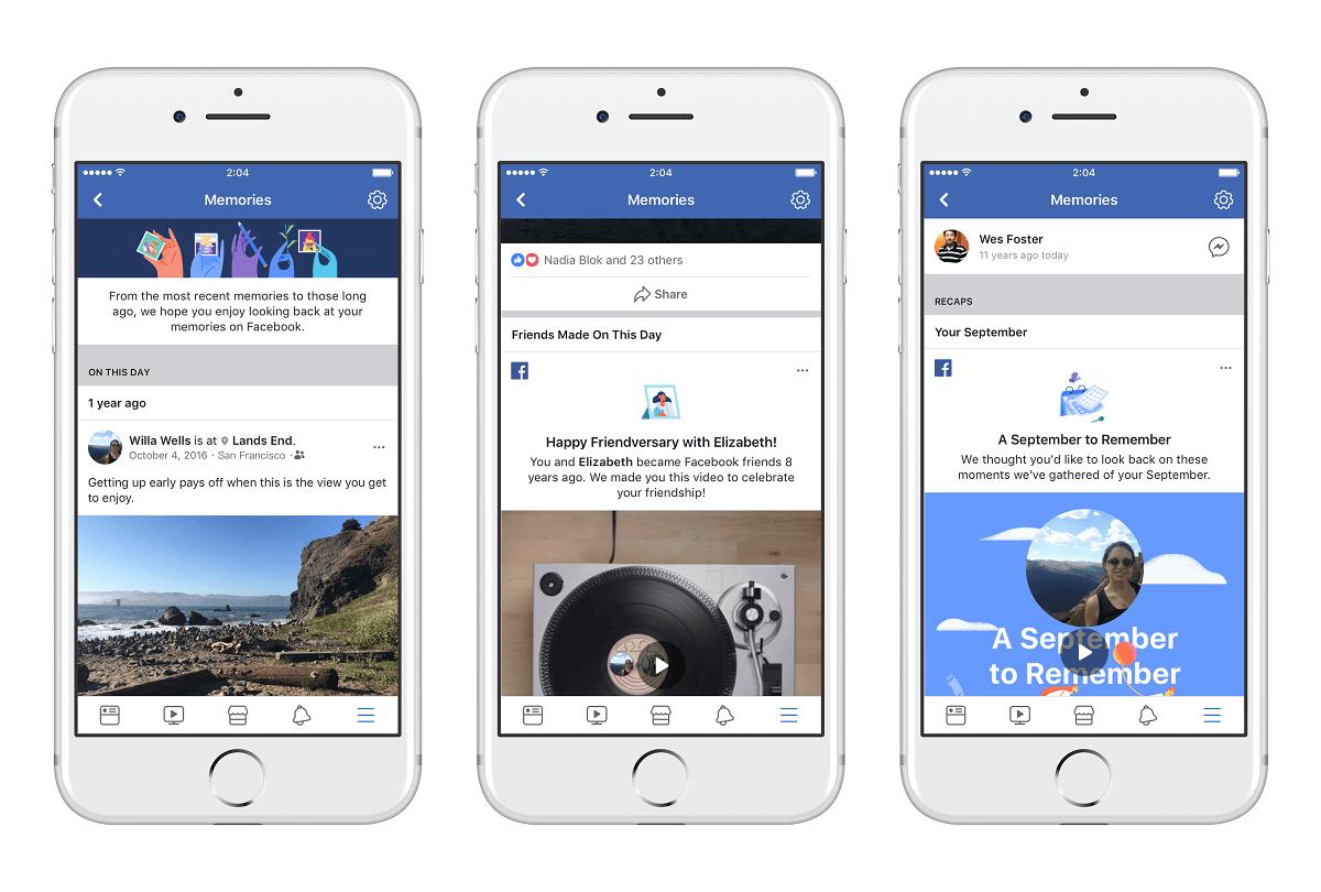 facebook spomienky