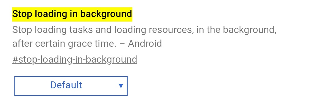 chrome pre android