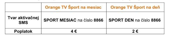 orange sport sms