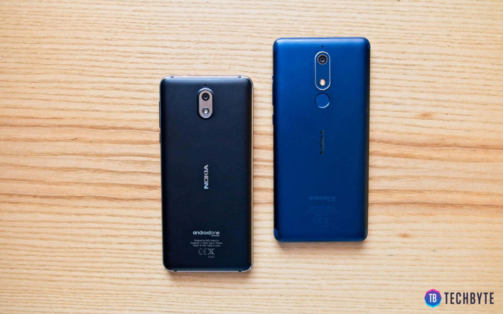 Nokia 3.1 a Nokia 5.1