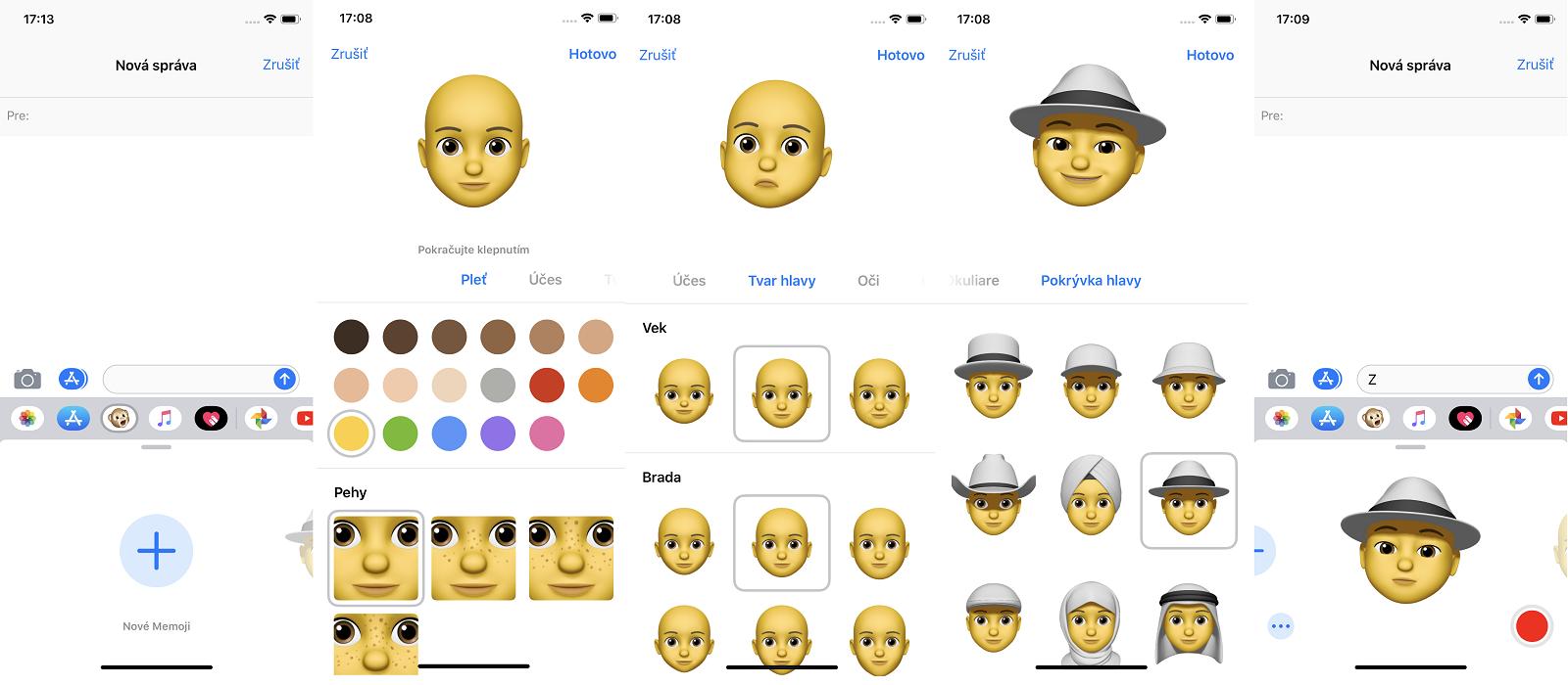 Memoji v iOS 12