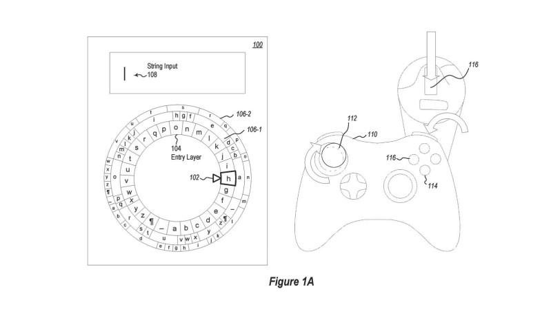 microsoft patent vytukavanie pismenka klavesnica vytacanie virtualna realita joystick konzoly