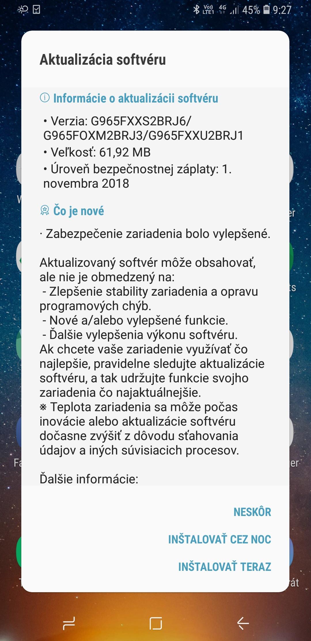 "Samsung Update ""width ="" 400 ""height ="" 822 ""srcset ="" https://www.techbyte.sk/wp-content/uploads/2018/11/Screenshot_20181116-092702_Software-update.jpg 1080w, https: // www .techbyte.sk/wp-content / uploads / 2018/11 / Screenshot_20181116-092702_Software-update-768x1579.jpg 768w, https://www.techbyte.sk/wp-content/uploads/2018/11/Screenshot_20181116-092702_Software - update-696x1431.jpg 696w, https://www.techbyte.sk/wp-content/uploads/2018/11/Screenshot_20181116-092702_Software-update-1068x2195.jpg 1068w, https://www.techbyte.sk/wp - content / uploads / 2018/11 / Screenshot_20181116-092702_Software-update-204x420.jpg 204w, https://www.techbyte.sk/wp-content/uploads/2018/11/Screenshot_20181116-092702_Software-update-778x1600.jpg 778w ""sizes ="" (max-width: 400px) 100vw, 400px"