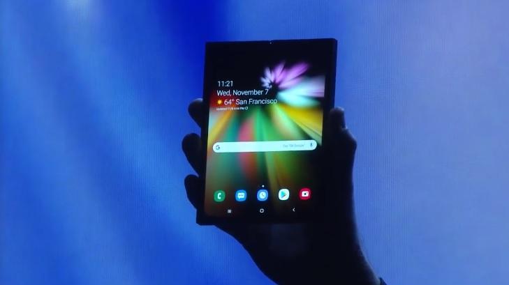 Skladací telefón od Samsungu