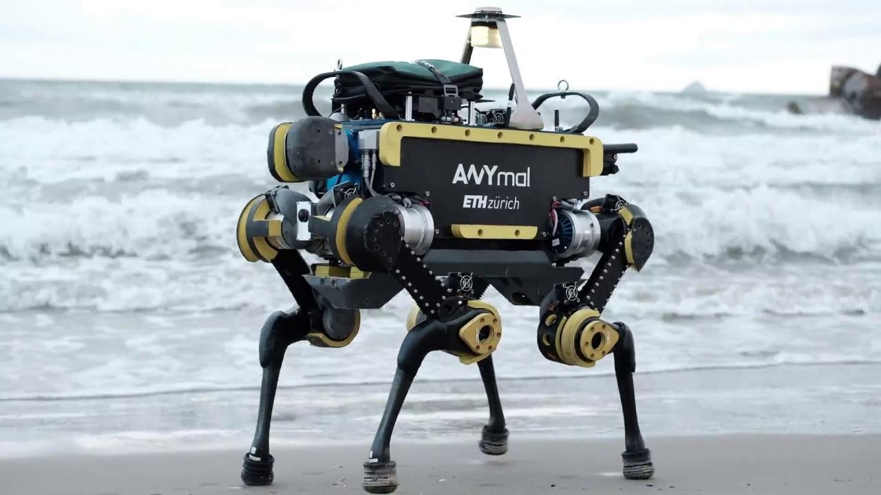 anymal robot roboticky pes postavit padne na zem skopne vedci