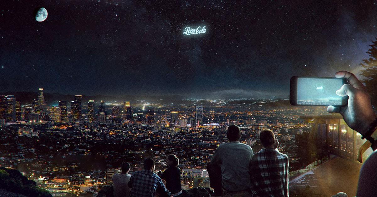reklamne suhvezdia startup rusky rusi zem displej nocna obloha vesmir reklama