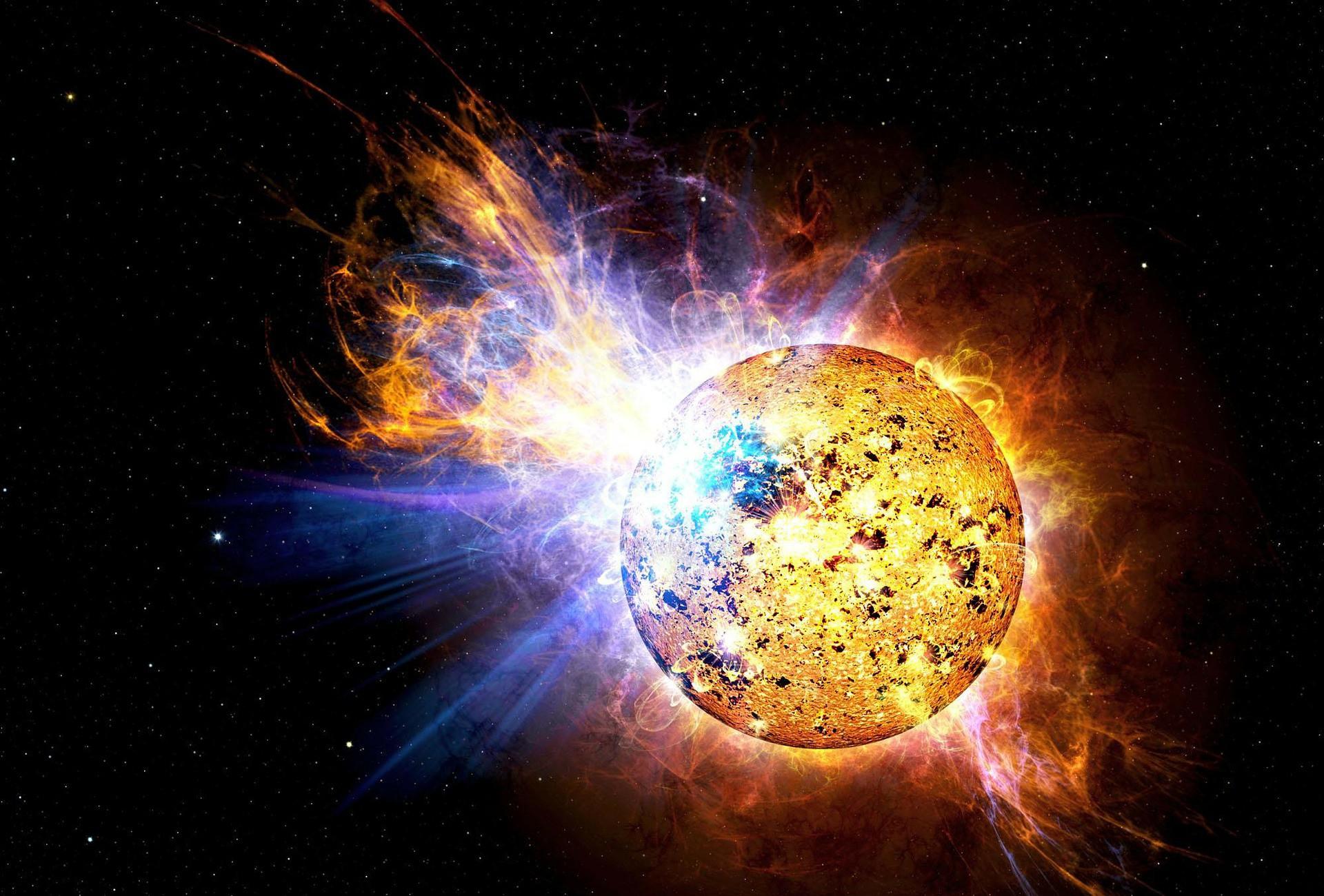 slnko krystal obrovsky tazky velmi vesmir krystalizacia miliardy rokov