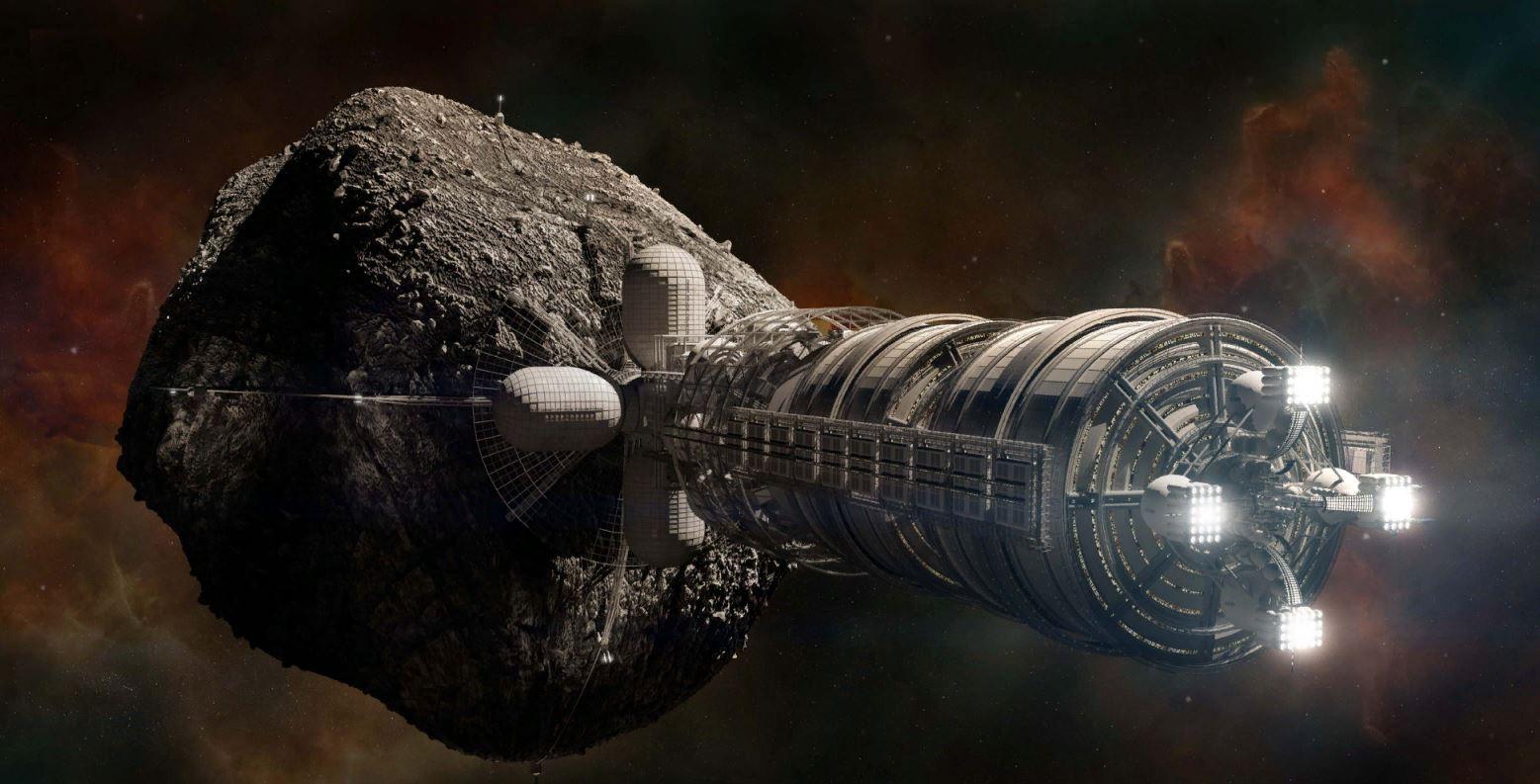 asteroid vesmirna stanica prekopat sa sci fi vedci