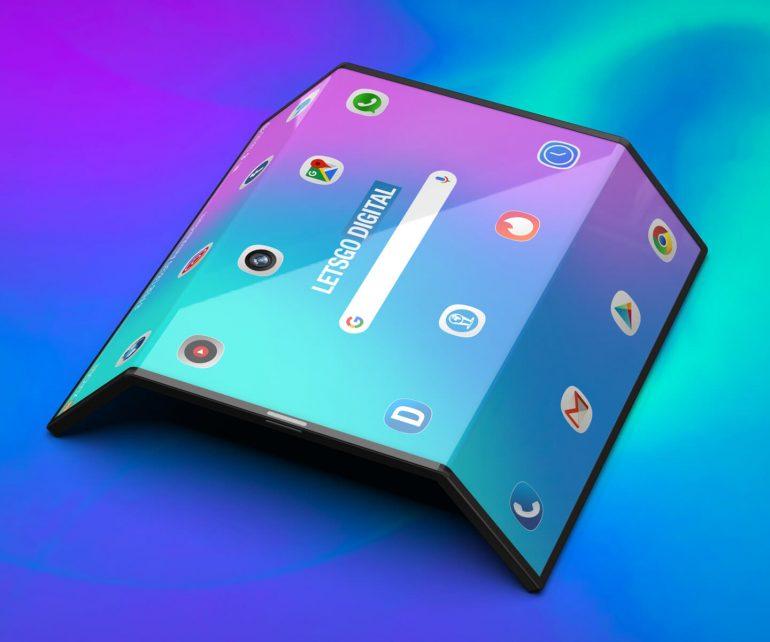 Render skladacieho telefónu od Xiaomi