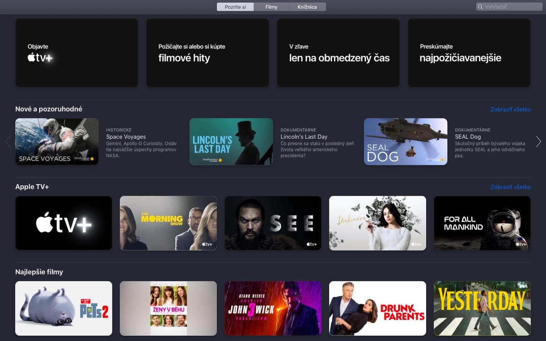 Aplikácia Apple TV