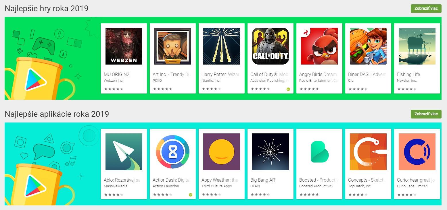 najlepsie aplikacie a hry roka