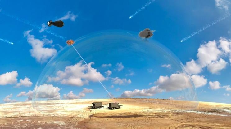 Obranný laser v akcii