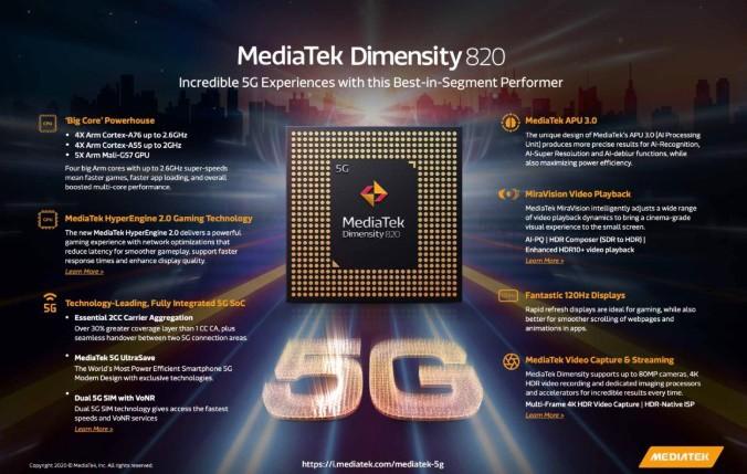 mediatek dimensity 820 1