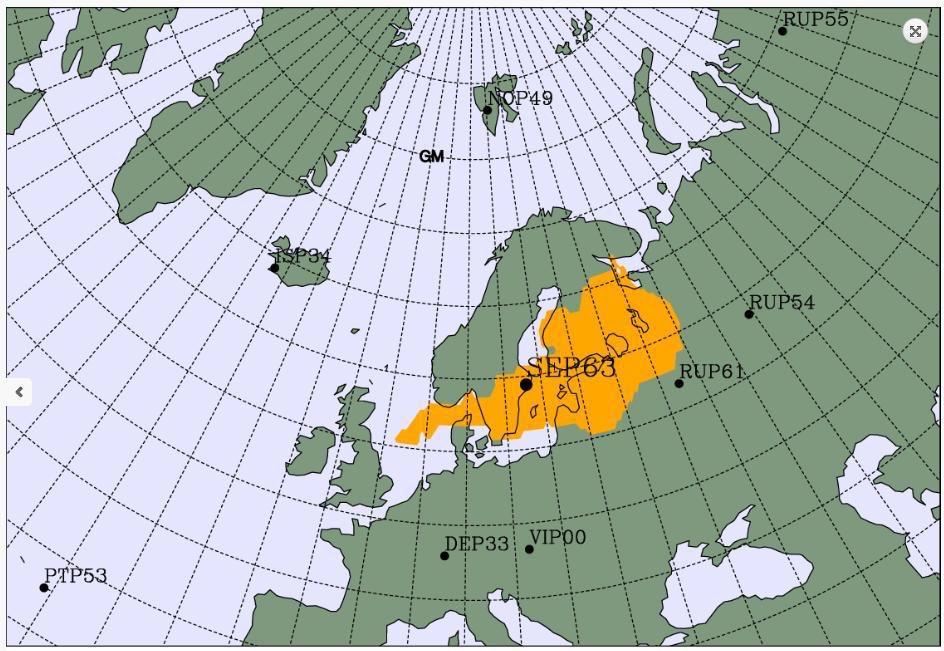 mapa radiacia