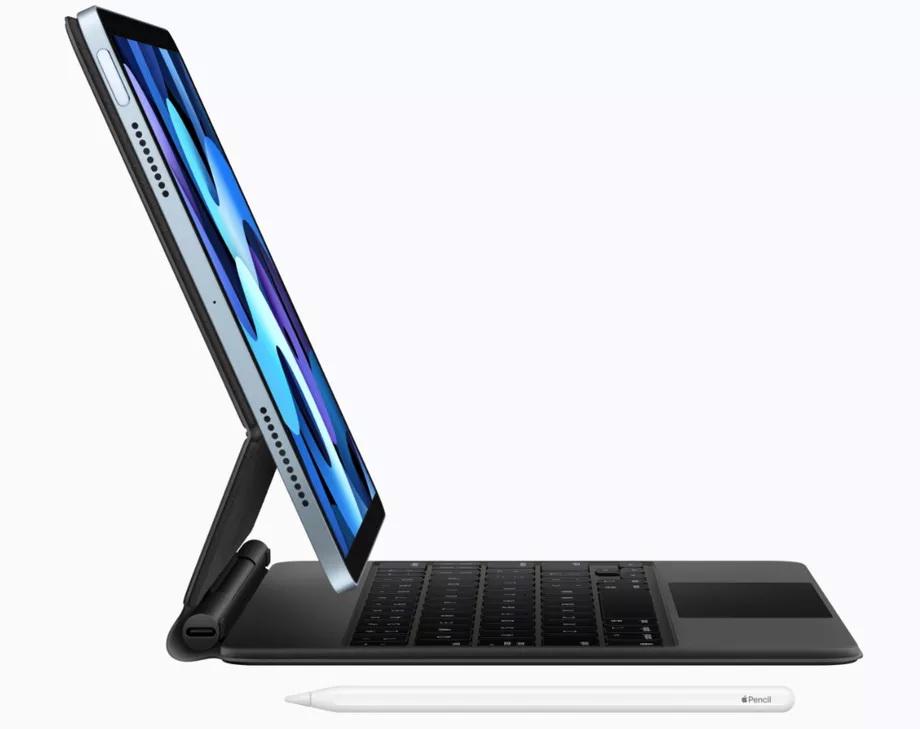 Nový iPad Air podporuje klávesnicu Apple Magic Keyboard, aj stylus Apple Pencil (2. generáciu)