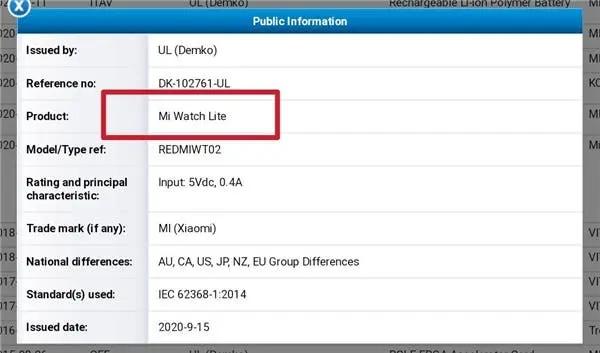redmi smartwatch certifikacia 1