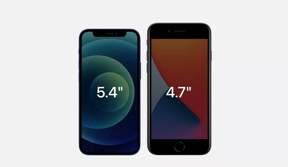 iphone12 mini vs iphone se