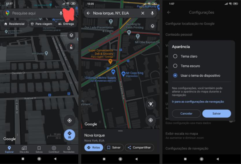 Tmavý režim pre Mapy Google