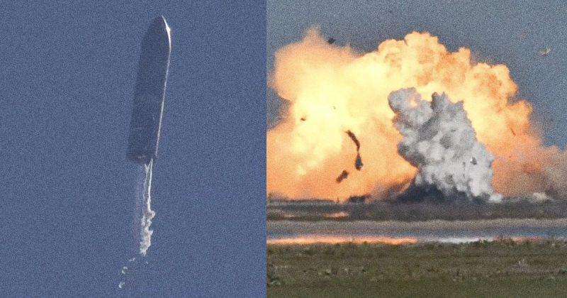 spacex starship sn9 explozia