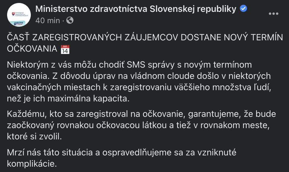 Ministerstvo zdravotníctva upozorňuje na SMSky.
