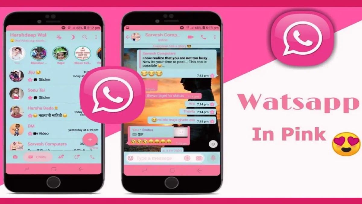 Ružový WhatsApp